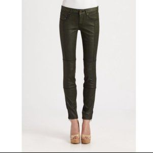 The Limited Dark Navy Waxed Skinny Jeans